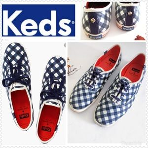 Keds x Kate Spade New York Blue Gingham Sz 10